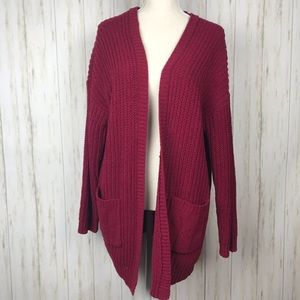 Torrid NWT Red Knit Cardigan 2X